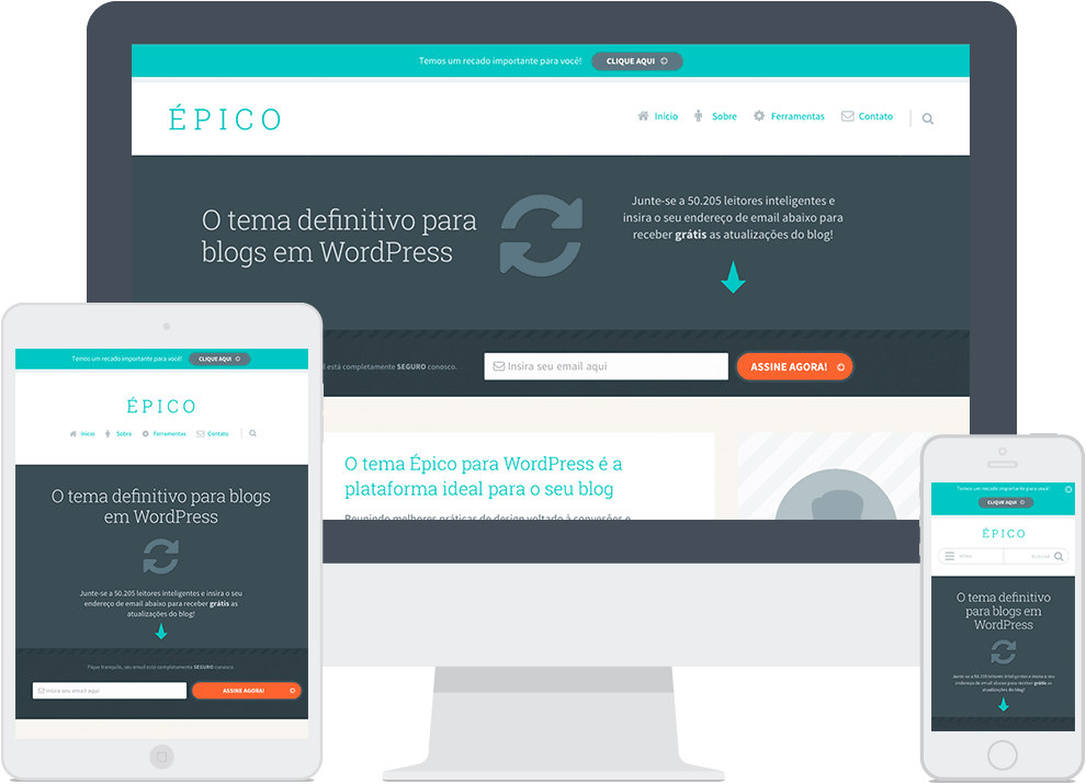 tema epico uberfacil template blogs wordpress